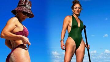 Jennifer Lopez'in mayolu pozuna beğeni yağdı