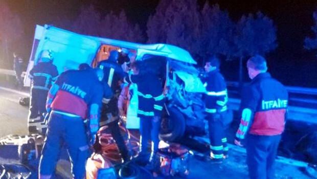Lüleburgaz'da feci kaza! 1 ölü, 21 yaralı